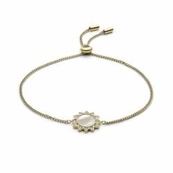 Bracelet Femme Chaîne FOSSIL ACIER doré et nacre