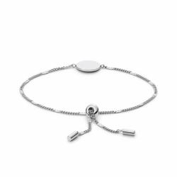 Bracelet Femme médaillon FOSSIL ACIER Argenté