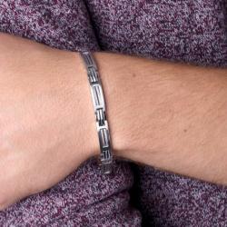 Bracelet Homme Phebus Acier  et Câble