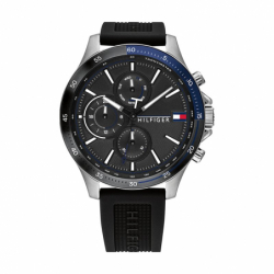 Montre Homme TOMMY HILFIGER Chronographe Silicone Noir