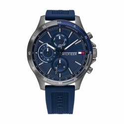 Montre Homme TOMMY HILFIGER Chronographe Silicone Bleu
