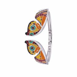 Bracelet Femme Jonc Papillon UNA STORIA ARGENT 925/1000 Laqué Multicolore et Oxydes