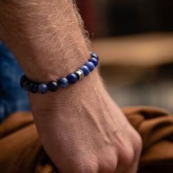 Bracelet homme GEMINI ALPHA sodalite bleu M