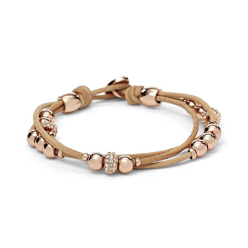 Bracelet femme FOSSIL multi-liens perlé