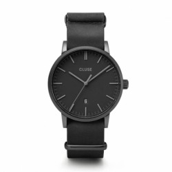 Montre Homme Cluse Aravis nato leather black