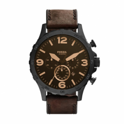 Montre homme FOSSIL NATE chronographe Cuir Brun