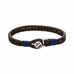 Bracelet Homme TOMMY HILFIGER Cuir Tressé Brun