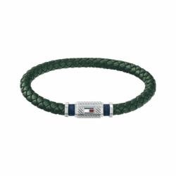 Bracelet Homme TOMMY HILFIGER Cuir Tressé Vert