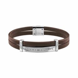 Bracelet Homme TOMMY HILFIGER Cuir Brun et Acier Argenté