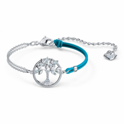 Bracelet Femme SWAROVSKI SYMBOLIC TREE OF LIFE Cordon bleu et Cristaux