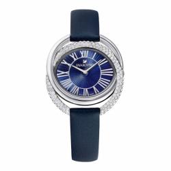 Montre Femme Swarovski la Duo Cuir Bleu