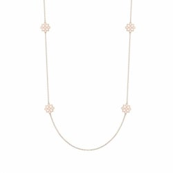 Collier Femme Sautoir Lore OR 375/1000 Rose Laqué Blanc Ivoir