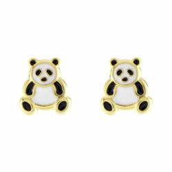 Boucles d'Oreilles Enfant Puces OR 375/1000 Jaune Pandas