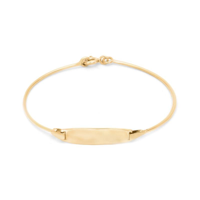 Bracelet Enfant OR 375/1000 Gourmette Rigide