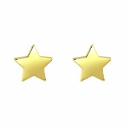 Boucles d'Oreilles Enfant Puces OR 375/1000 Jaune Etoiles