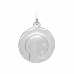 Médaille Vierge OR 375/1000 Blanc