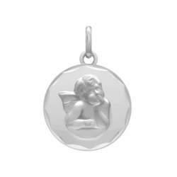 Médaille Ange OR 375/1000 Blanc