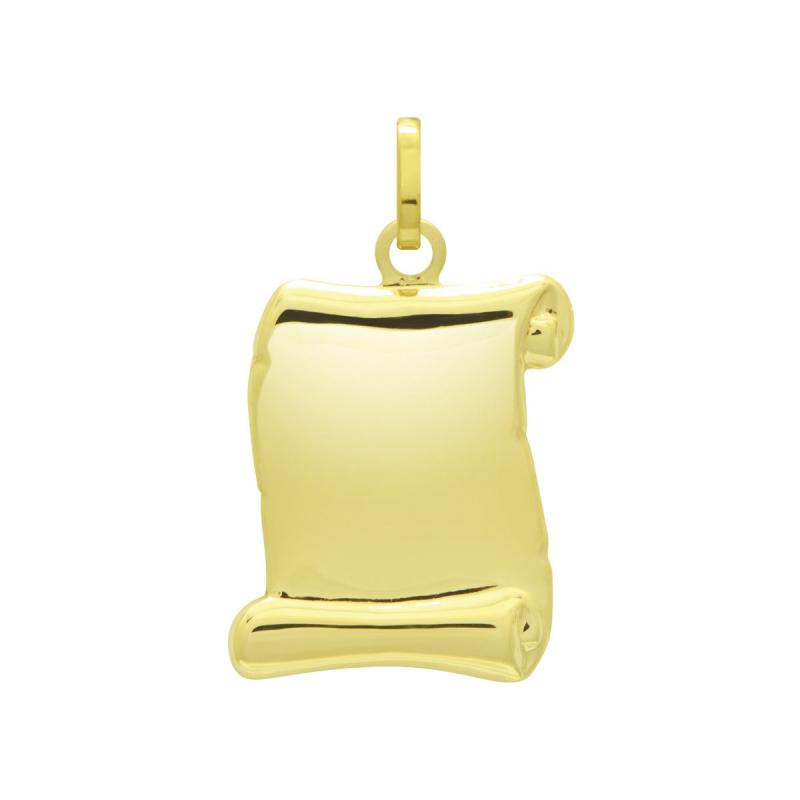 Médaille Parchemin OR 375/1000 Jaune