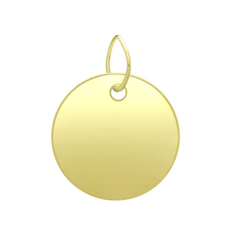 Médaille Plaque OR 375/1000 Jaune