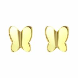 Boucles d'Oreilles Enfant Papillons OR 375/1000 Jaune