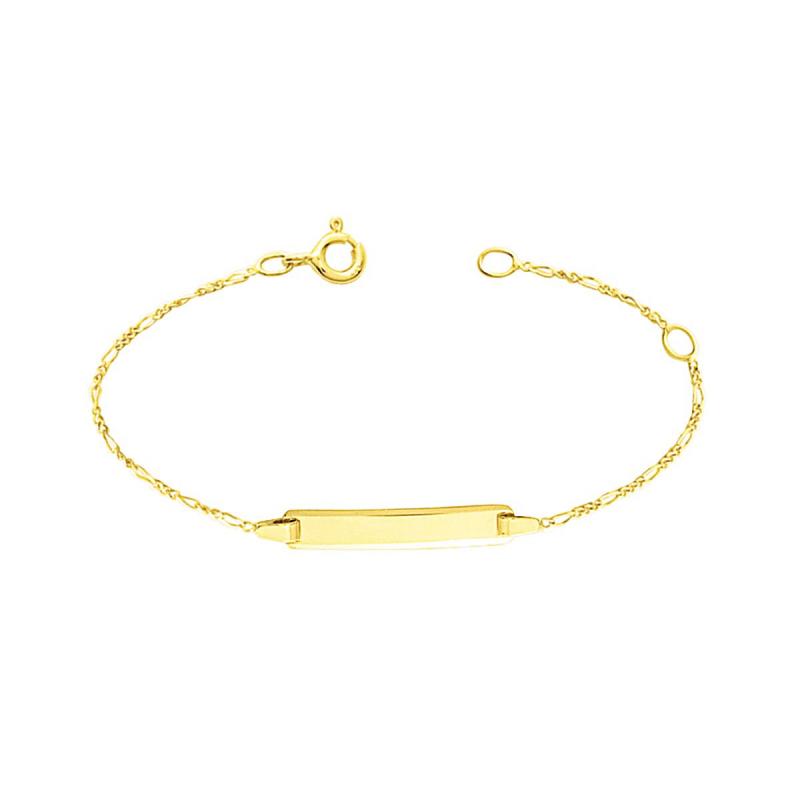 Bracelet Enfant Gourmette Bébé OR 375/1000 Jaune
