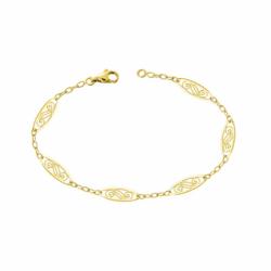 Bracelet Femme Chaîne Filigrane OR 375/1000 Jaune