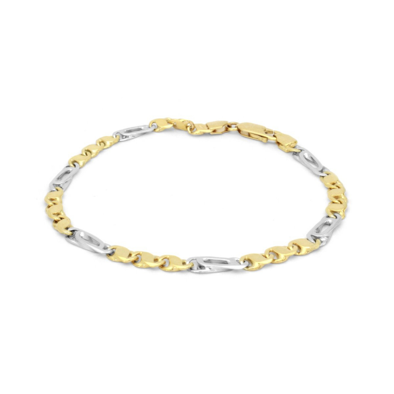 Bracelet Femme OR 375/1000 Fantaisie Bicolore