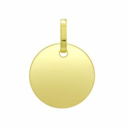 Médaille Plaque Ronde OR 750/1000 Jaune