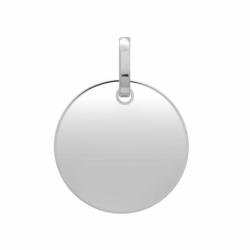 Médaille Plaque Ronde OR 750/1000 Blanc