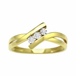 Bague Femme Trilogie EDORA OR 750/1000 Jaune et Diamants