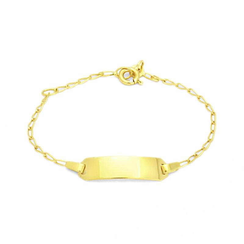 Bracelet Enfant Gourmette Bébé OR 750/1000 Jaune