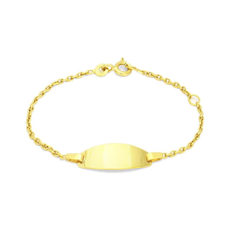 Bracelet Enfant Gourmette Bébé EDORA OR 375/1000 Jaune