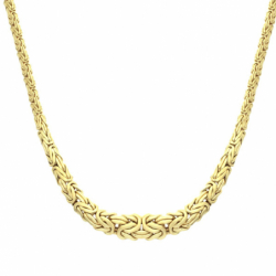 Collier Femme Chaîne Chute OR 750/1000 Maille Royale Jaune