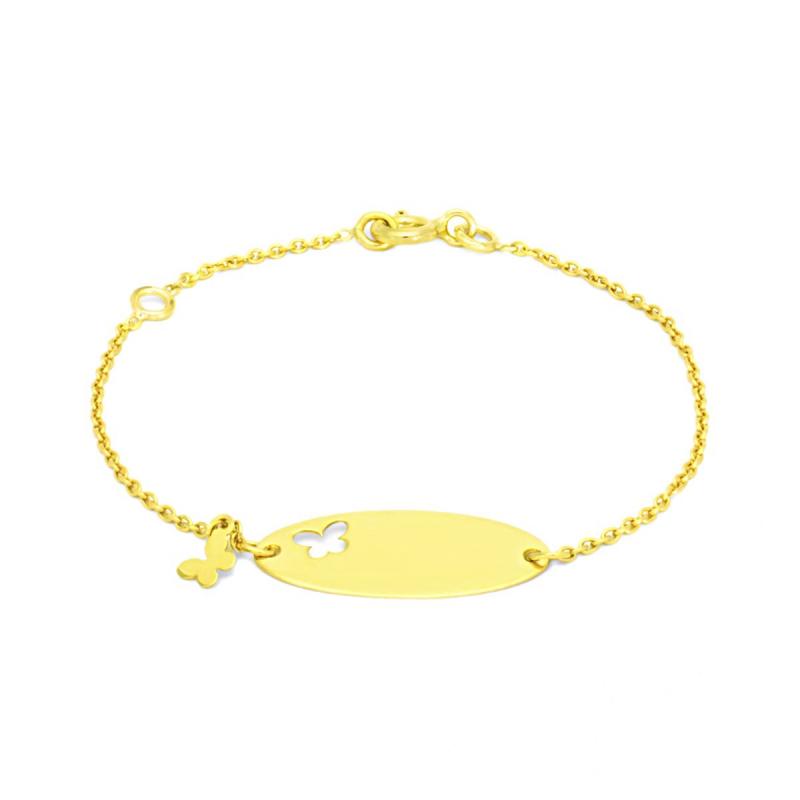 Bracelet Enfant Gourmette Bébé EDORA OR 750/1000 Jaune