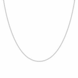 Chaîne OR 750/1000 Blanc FORÇAT DIAMANTÉE 0.70 MM