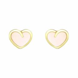 Boucles d'Oreilles Enfant Puces Coeurs OR 750/1000 Jaune