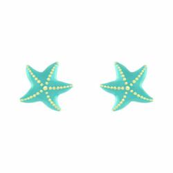 Boucles d'Oreilles Enfant Puces Etoiles de Mer OR 750/1000 Jaune