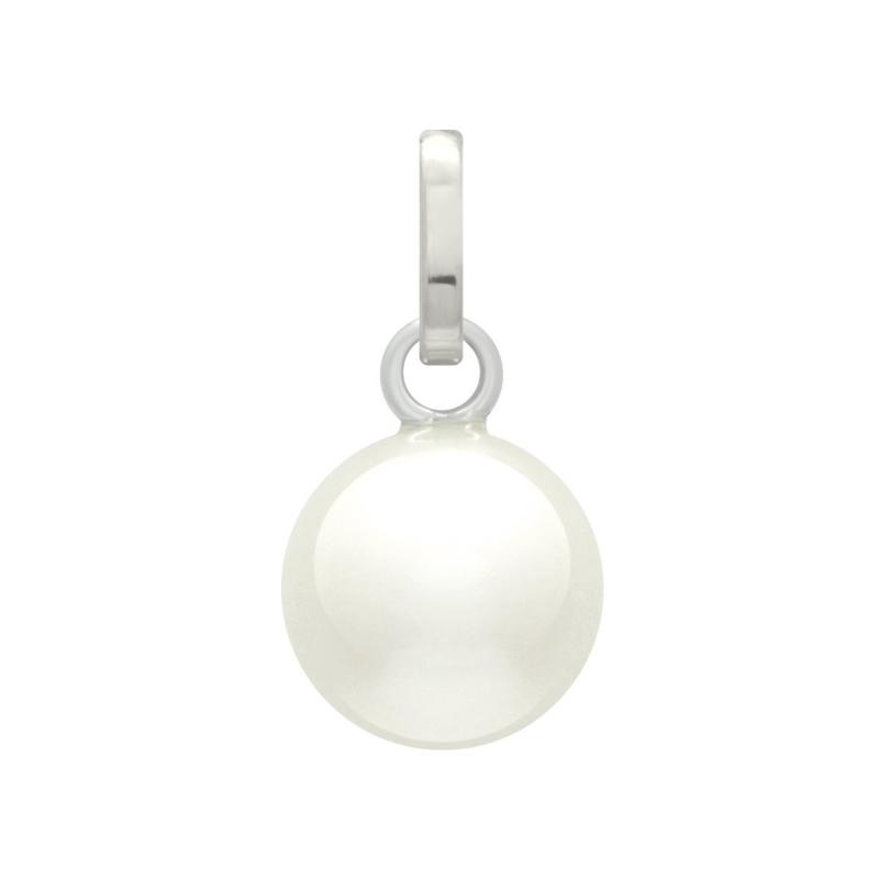 Pendentif Femme OR 750/1000 Blanc et Perle