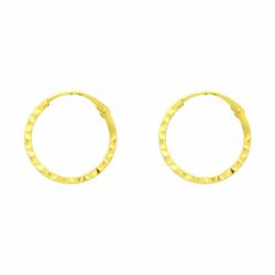 Boucles d'oreilles Femme Créoles OR 750/1000 Jaune