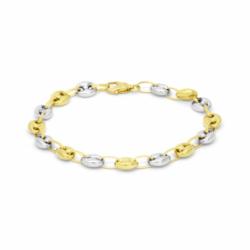 Bracelet Femme OR 750/1000 Grains de café Bicolore