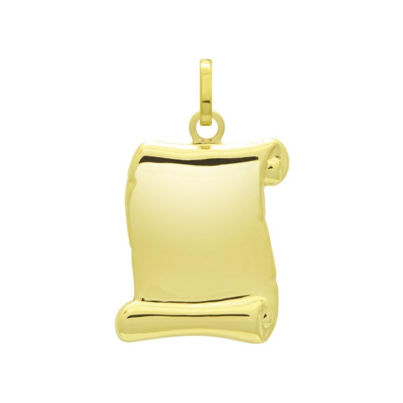 Médaille Parchemin OR 750/1000 Jaune