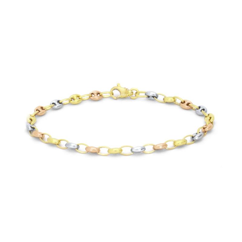 Bracelet Femme Chaîne 3 ORS 750/1000 Marine Creuse