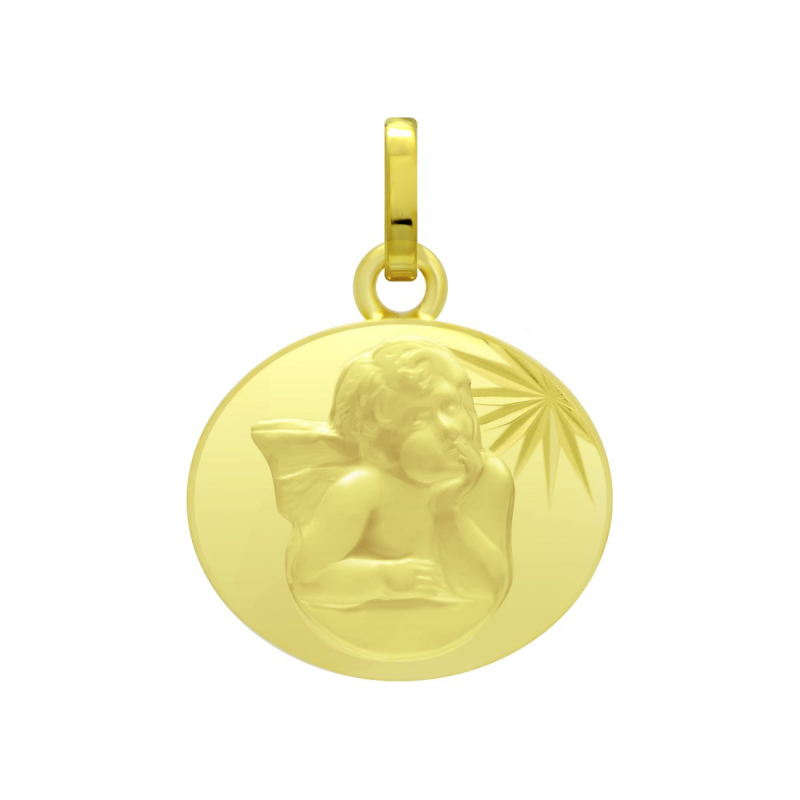 Médaille Ange OR 750/1000 Jaune