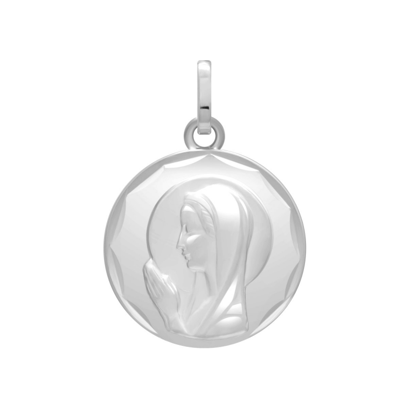 Médaille Vierge OR 750/1000 Blanc