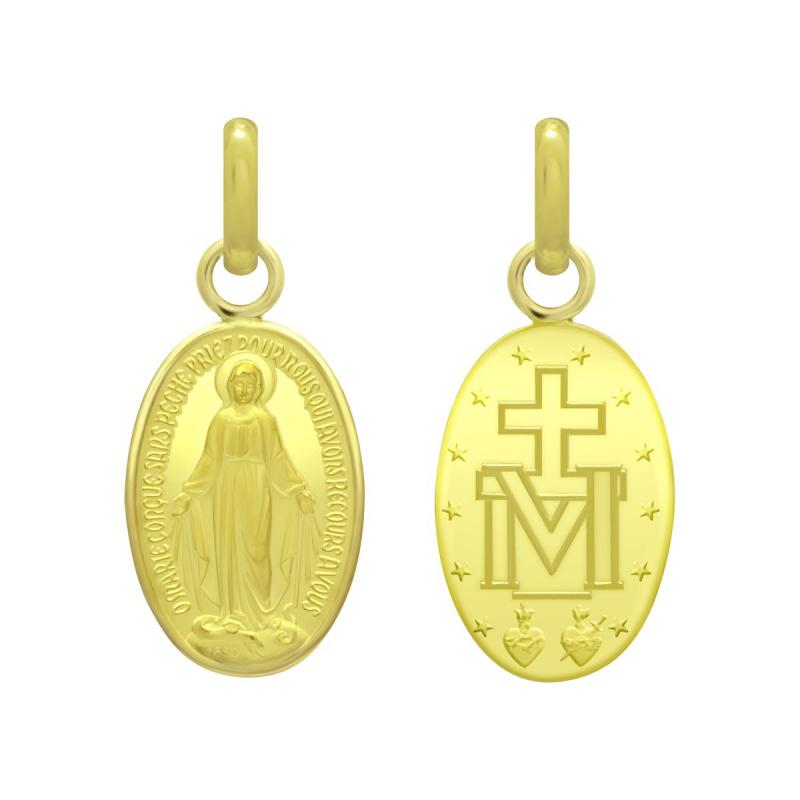 Médaille Vierge Miraculeuse OR 750/1000 Jaune