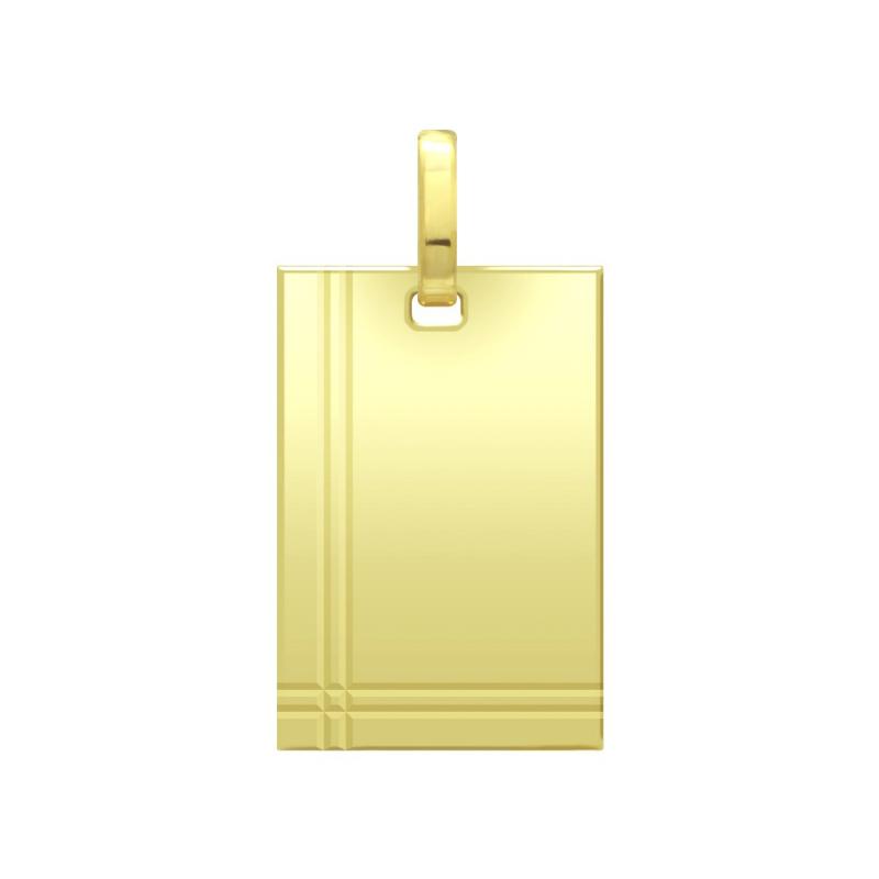 Médaille Plaque Lapidée OR 750/1000 Jaune