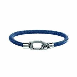 Bracelet Homme MASERATI Acier et Cuir Bleu
