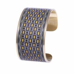 Bracelet Femme Manchette Barillet LOUISE'S GARDEN Acier Doré