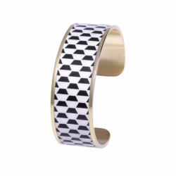 Bracelet Femme Manchette Palais Royal LOUISE'S GARDEN Acier Doré