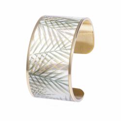 Bracelet Femme Manchette Bambou LOUISE'S GARDEN Acier Doré